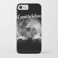 i want to believe iPhone & iPod Cases featuring I want to believe by Javier Pizarro