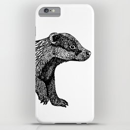 British Badger Zentangle iPhone Case