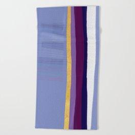 Violet purple Beach Towel