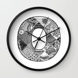 Cutout Letter O Wall Clock