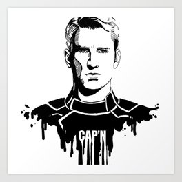 Avengers in Ink: Captain America Art Print