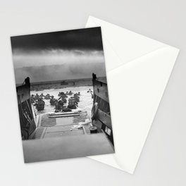 Omaha Beach Landing -- D-Day Normandy Invasion Stationery Cards