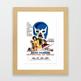 Blue Demon destructor de espias, 1968 (Vintage Movie Poster) Framed Art Print