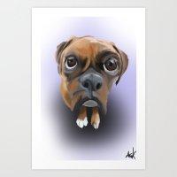 Dog Eyes Art Print