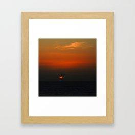 cloudy sunset seascape Framed Art Print