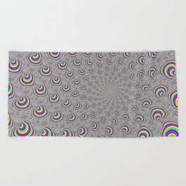 Psychedelic Swirl Beach Towel