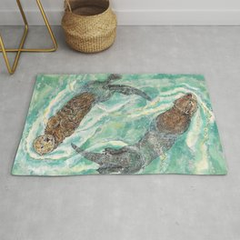 Two Otters Rug