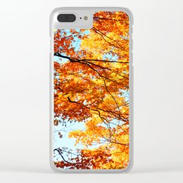 Autumn colours Clear iPhone Case