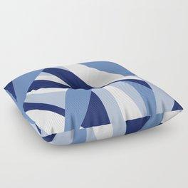Pucciana Blue Floor Pillow