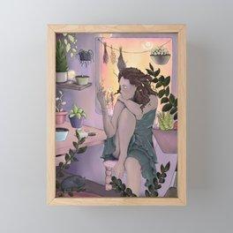 Plant Witch Framed Mini Art Print