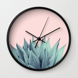 Agave Vibes #12 #tropical #decor #art #society6 Wall Clock