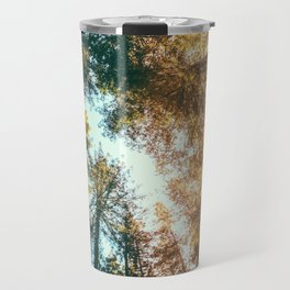 California Redwoods Sun-rays and Sky Travel Mug