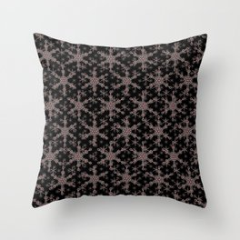Snow flake of Ruby and Gold Throw Pillow