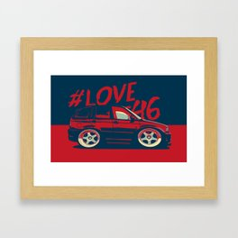 Mini BMW E46 Framed Art Print