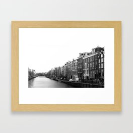 canal in Amsterdam Framed Art Print