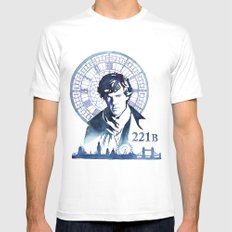 Sherlock X-LARGE White Mens Fitted Tee