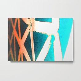 Orange/Blue Metal Print