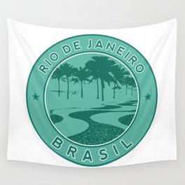 Rio de Janeiro, Brazil, Copacabana beach, green circle Wall Tapestry