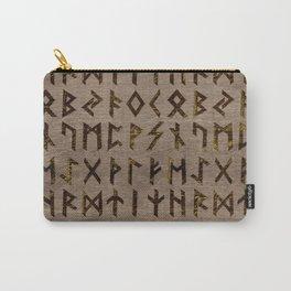 Ancient Celtic Runes  Alphabet pattern Carry-All Pouch