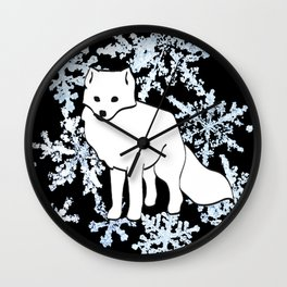 Foxes & Flakes Wall Clock