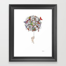 Global Connections (White Background) Framed Art Print