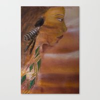 indian Canvas Prints featuring Indian by Kathleen Schulze