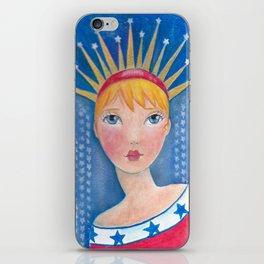 Whimiscal Miss Liberty iPhone Skin