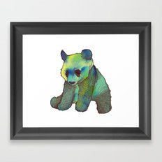 Watercolor Panda Framed Art Print