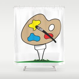 Junior Strokes Shower Curtain