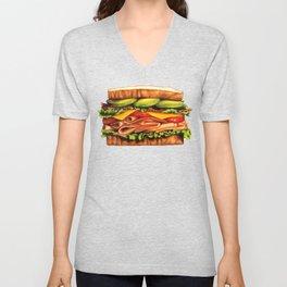 Sandwich Pattern - Turkey Unisex V-Neck