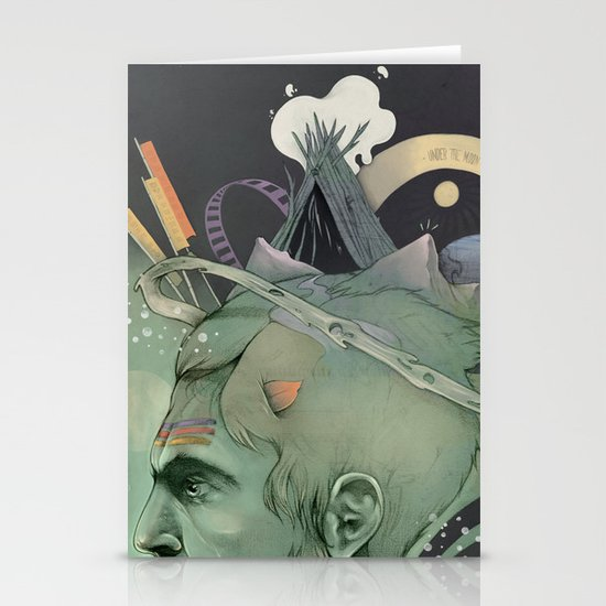 The traveler dreams Stationery Cards