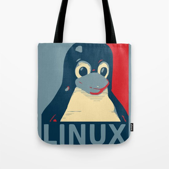 Linux tux Penguin poster head red blue  by sofiayoushi