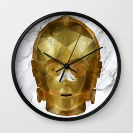 C3PO Low Poly Wall Clock