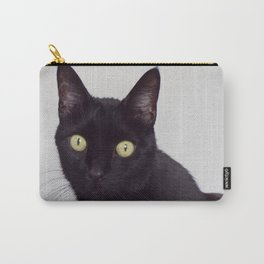 Pretty Kitty, Black Cat With Huge Green Eyes, Halloween Cat Carry-All Pouch