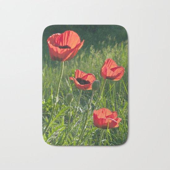 Dream of Red Poppies Bath Mat
