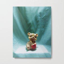 Honey Bear Squeaky Toy  Metal Print