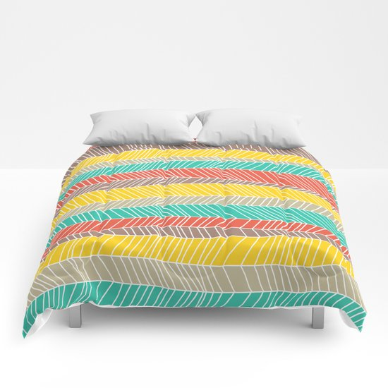 Beach Stripe (warm) Comforters
