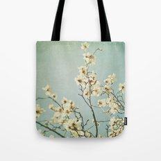 Magnolia blossoms. Mint Tote Bag
