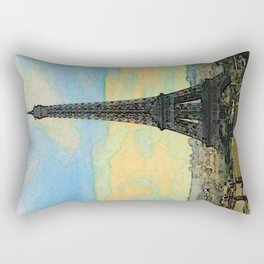 Watercolor Dream of Paris Rectangular Pillow