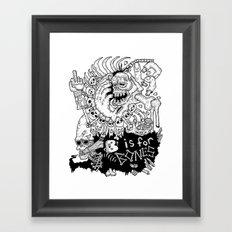 B is for Bones Framed Art Print