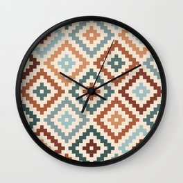 Aztec Block Symbol Ptn TCT Wall Clock