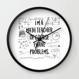 Math Teacher Wall Clock