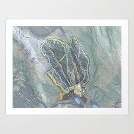 Ski Butternut Trail Map Art Print