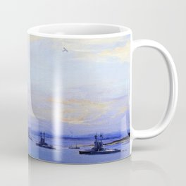 The American Battle Squadron in the Firth of Forth - Digital Remastered Edition Coffee Mug