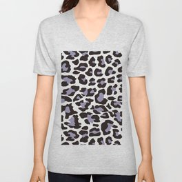 Snow Leopard Pattern_C Unisex V-Neck