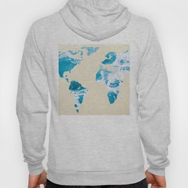 Ocean World Map Sea and Sand Hoody