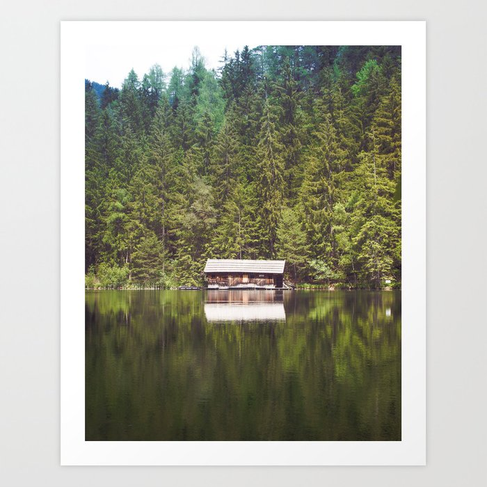 Cottage in the Forest (Color) Art Print