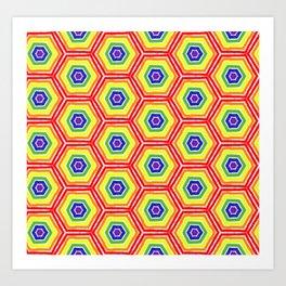 Pride Honeycomb Art Print