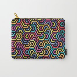 Seamless Colorful Geometric Pattern XXIV Carry-All Pouch
