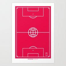 Universal Platform (Outlined) Art Print